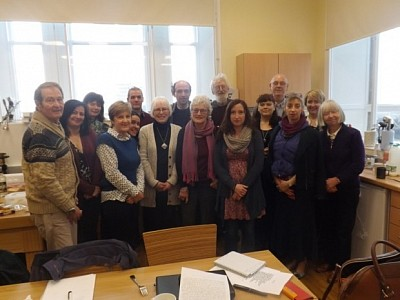 Members of the Stonehaven and Inveerbervie Mearns Writers Group at a Sunday Workshop.